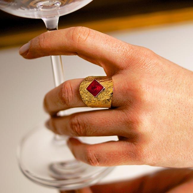 Bague-bijoux-de-créateur-fantaisie-email-prune-fait-à-la-main2