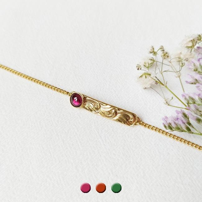 Bijoux-fantaisie-de-créateur-avec-une-pierre-naturelle-prune-doré-à-l-or