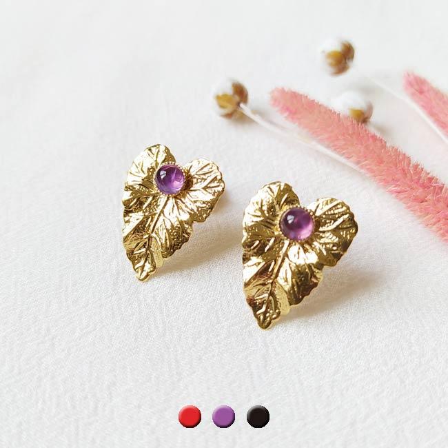 Boucle-d-oreille-fait-à-la-main-pierre-amethyste-violet-bijoux-de-créateur-fantaisie