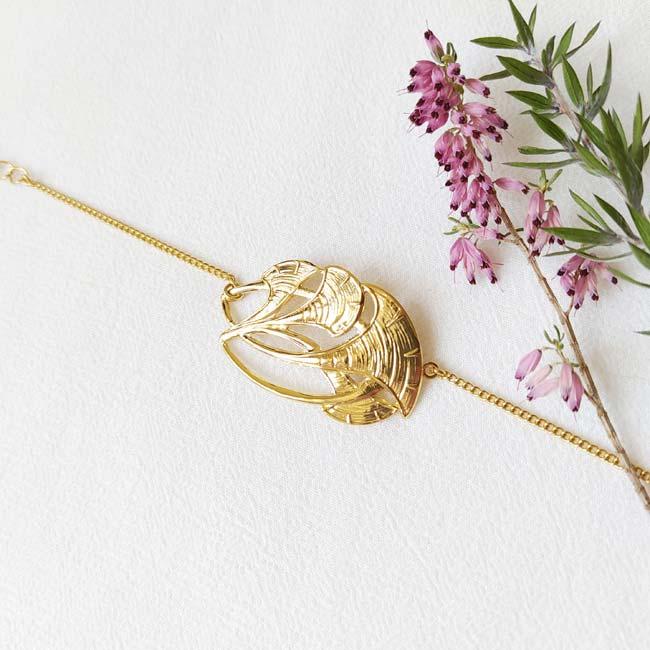 Bijoux-de-créateur-fantaisie-bracelet-doré-or-fait-main