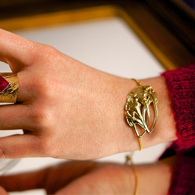 Bijoux-de-créateur-fantaisie-bracelet-doré-or-fait-main2