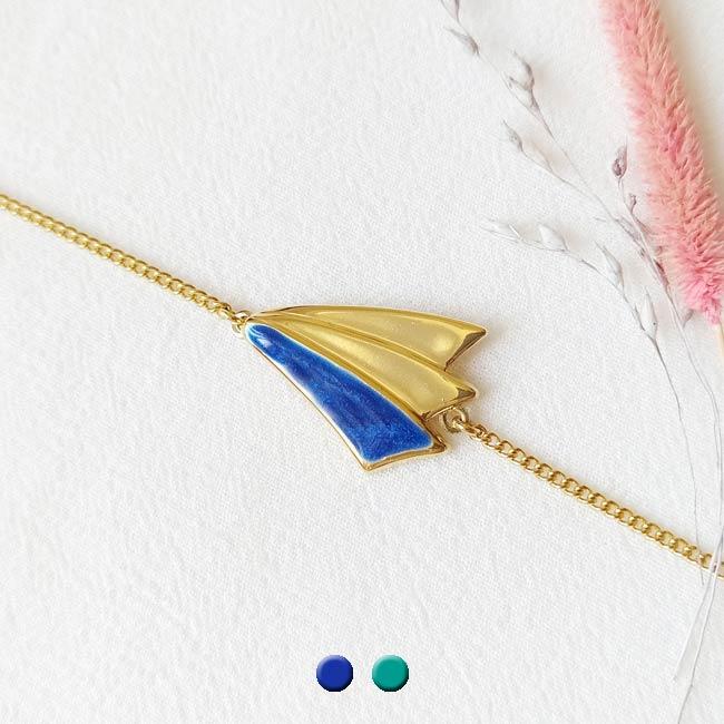 Bracelet-bleu-roi-bijoux-de-créateur-fantaisie-doré-or-fait-main