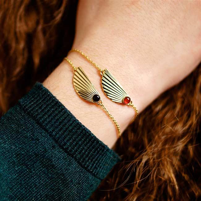 Bracelet-pierre-bijoux-de-créateur-fantaisie-doré-or-fait-main