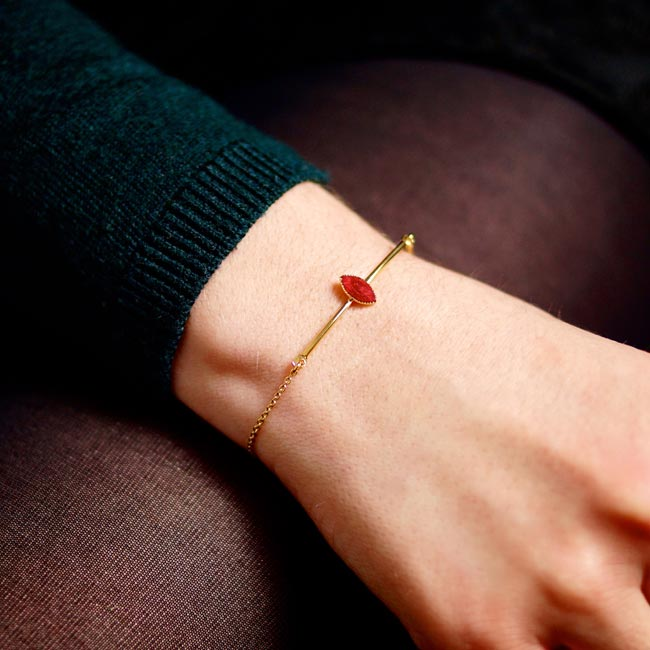 Bracelet-prune-créateur-fantaisie-bijoux-doré-or-fait-main2