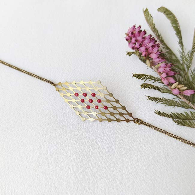 Bijoux-bronze-createur-fantaisie-bracelet-email-prune-fait-main-paris