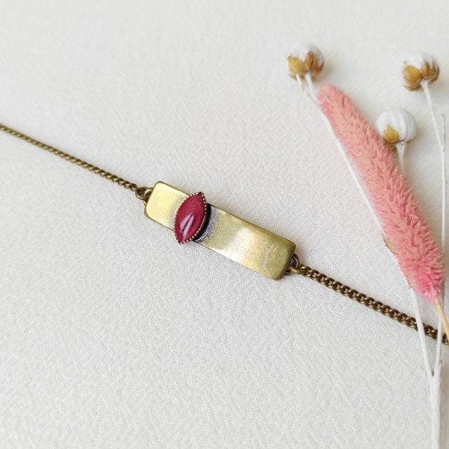 Bracelet-bronze-de-créateur-fantaisie-prune-fait-main-à-Paris