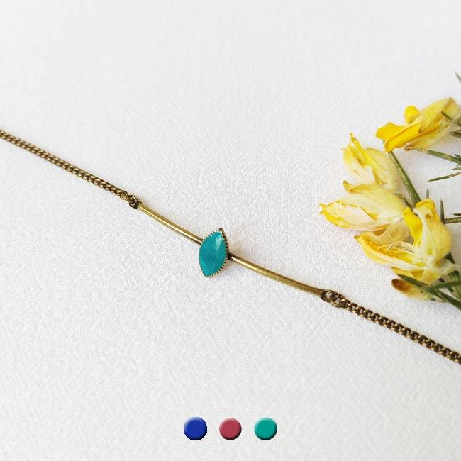 Bracelet-bronze-fantaisie-de-créateur-bleu-turquoise-fait-main-à-Paris