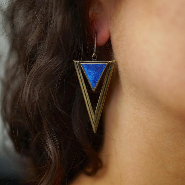 Boucles d'oreilles bronze Xena