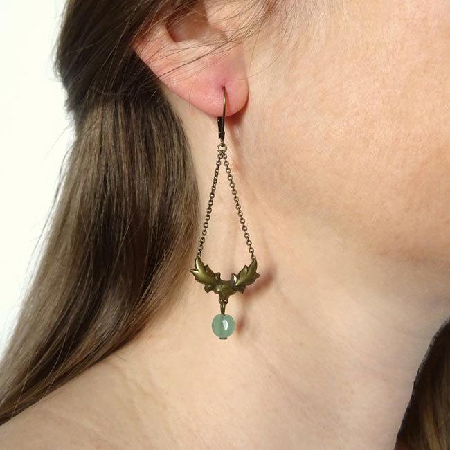 Boucles d'oreilles bronze Georgia
