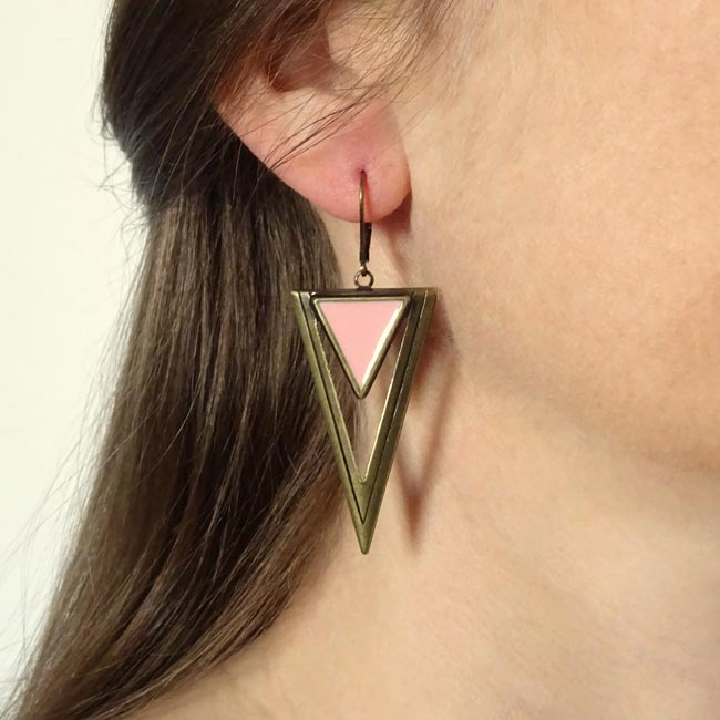 Bijoux-de-créateur-fantaisie-boucles-d-oreilles-bronze-rose-fait-main