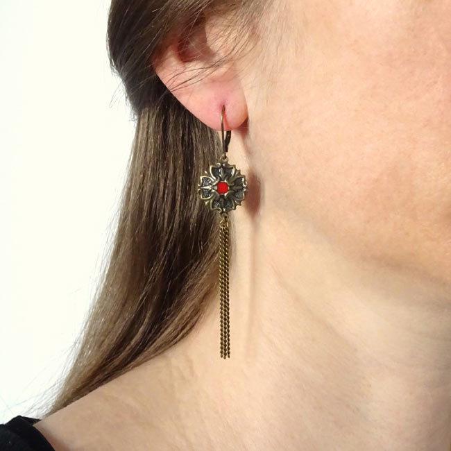 Boucles d'oreilles bronze Kiddy