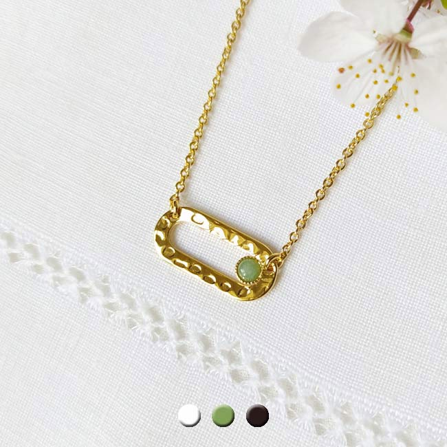 Handmade-fashion-jewelry-in-gold-for-women-with-gemstone-green-made-in-France