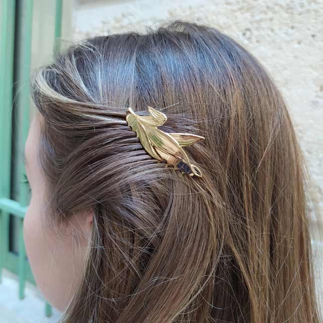 Handmade-customed-gold-hair-comb-for-women-made-in-Paris