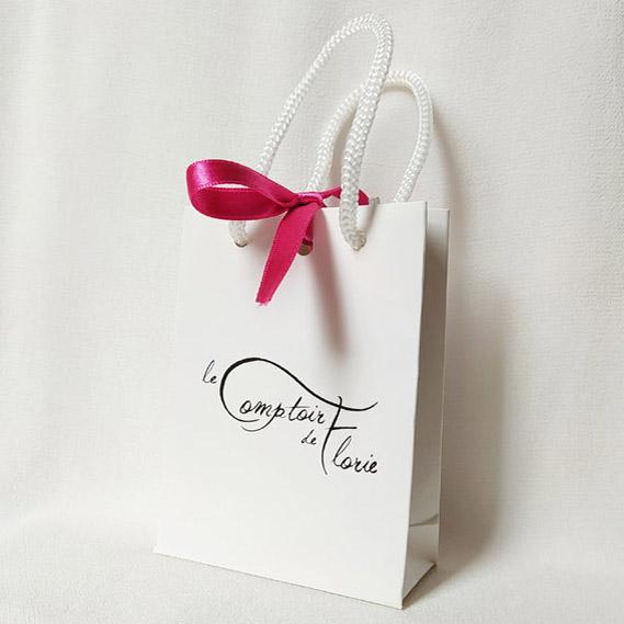 White branded bag